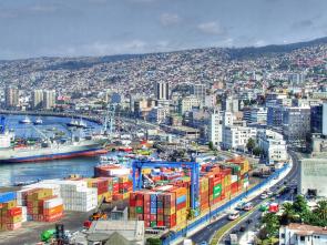 Oceanic port of Valparaiso Chile