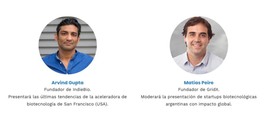 Arvind Gupta y Matias Peire BioArgentina2019